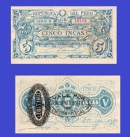 Peru 5 Incas 1881  - REPLICA --  REPRODUCTION - Peru