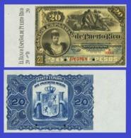 Puerto Rico  20 Pesos 1894  - REPLICA --  REPRODUCTION - Puerto Rico