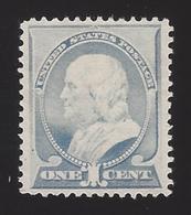 US #212 1887 Ultramarine Perf 12 Mint NG VF Scv $30 - Unused Stamps