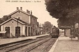 PAS DE CHEQUE REPRODUCTION JUSSEY HAUTE SAONE GARE STATION - Autres Communes