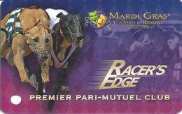 Mardi Gras Casino & Resort - Cross Lanes, WV USA - Slot Card - Cartes De Casino
