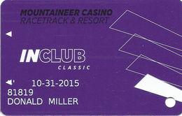 Mountaineer Casino Eldorado Resorts - Chester, WV USA - Slot Card - Cartes De Casino