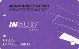 Mountaineer Casino - Chester, WV USA - Slot Card With TM After InClub - Cartes De Casino