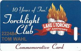 Lake Of The Torches Casino - Lac Du Flambeau, WI - 10th Anniv Slot Card - Casino Cards