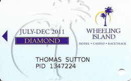 Wheeling Island Casino WV July-Dec 2011 Diamond Slot Card - Casino Cards