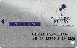 Wheeling Island Casino WV - 1H09 Platinum Slot Card - Cartes De Casino