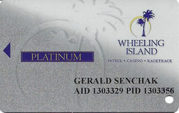 Wheeling Island Casino WV - 1H09 Platinum Slot Card - Casino Cards