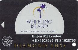 Wheeling Island Casino WV - 1H08 Diamond Slot Card - Casino Cards