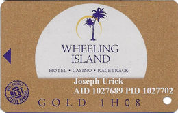Wheeling Island Casino WV - 1H08 Gold Slot Card - Cartes De Casino