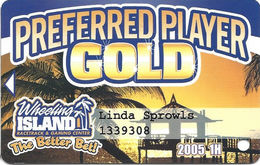 Wheeling Island Casino WV - 2005 1H Gold Slot Card - Cartes De Casino