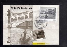 ITALIA REPUBBLICA ITALY 2007 PATRIMONIO ARTISTICI E CULTURALI SITI DELL'UNESCO VENEZIA CARTOLINA MAXIMUM MAXI CARD - Cartoline Maximum