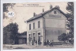RONCENAY- LA GARE DE BOUILLY-RONCENAY DESSERVANT VILLY-LE-MARECHAL- NICAT 1301-1- TROUS DE PUNAISES - France