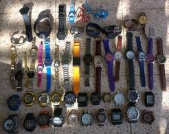 Big LOT OF CLOCKS WRIST WATCHES - Antike Uhren