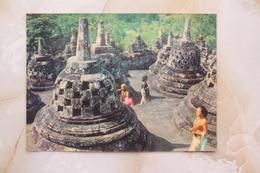 #1- INDONESIA POSTCARD 1970s 3D CARD(TOP STEREO), STUPA OF BOROBUDUR JOGJAKARTA, CENTRA JAVA - Indonesia