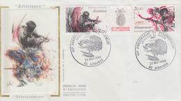 Enveloppe   40éme  Anniversaire  De  La  LIBERATION   AIRAINES   1984 - Guerre Mondiale (Seconde)