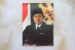 #6-INDONESIA POSTCARD 1970s 3D CARD(TOP STEREO), THE SOEHARTO, PRESIDEN REP. INDONESIA - Indonesia