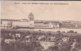SUEDE---RARE---MALMÖ--utsikt över Baltiska Utställningen Och Koloniträdgardarne--voir 2 Scans - Suède