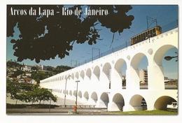 LSJP BRAZIL POSTCARD ARCOS DA LAPA RIO DE JANEIRO CABLEWAY - Rio De Janeiro