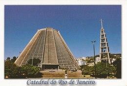 LSJP BRAZIL POSTCARD CATHEDRAL OF RIO DE JANEIRO - Rio De Janeiro