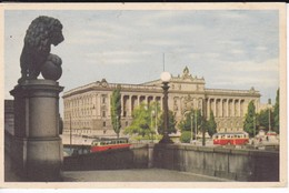 SUEDE-----RARE---STOCKHOLM---riksdagshuset Fran Lejonbacken--( Bus )--voir 2 Scans - Suède