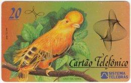 BRASIL F-654 Magnetic Telebras - Painting, Animal, Bird - Used - Brazil