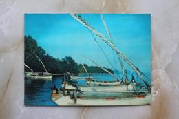 #17-INDONESIA POSTCARD 1970s 3D CARD(TOP STEREO), PASIR PUTIH BEACH, SURABAYA, EAST JAVA - Indonesia