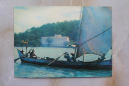 #18- NDONESIA POSTCARD 1970s 3D CARD(TOP STEREO),SAMUDRA BEACH HOTEL, PELABUHAN RATU, WEST JAVA - Indonesia