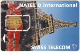 SWITZERLAND C-155 GSM Swisscom - Landscape, Eiffel Tower - Used - Suiza