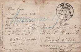 Carte Photo De Amay Par Càd Allemand LÜTTICH 1 (Liège) 5/3/17 Vers Prisonnier En Allemagne Kriegsgefangener - Weltkrieg 1914-18