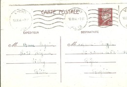 CARTE POSTALE 1944 VICHY - Postwaardestukken