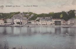 Dinant  La Place De Meuse Colorée Et Circulée En 1913 - Dinant