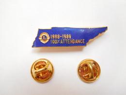 Beau Pin's En EGF , Association Lions Club , 100% Attendance - Associations