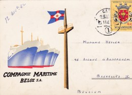 Compagnie Maritime Belge S.A. Circulée En 1962 - België