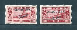 Colonie Timbres D'Alaouites De 1925/30  N°28 + 28a (Scht Noire) Neufs * Cote 51€40 - Neufs