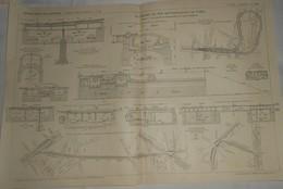 Plan Du Chemin De Fer Métropolitain De Paris.Ligne N°4. De La Porte De Clignancourt à La Porte D'Orléans. 1911 - Travaux Publics