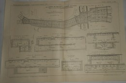 Plan Du Chemin De Fer Métropolitain De Paris.Ligne N°4. De La Porte De Clignancourt à La Porte D'Orléans. 1911 - Public Works