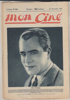 C1   CINEMA Mon Cine # 301 1927 Livio PAVANELLI Billie DOVE Rudolph VALENTINO - Cinéma/Télévision
