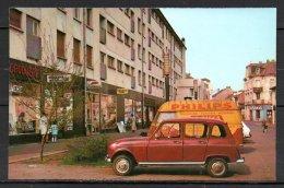 57-Talange, Centre Commerciale, Voitures Renault 4 Et Estafette Publicitaire - Talange