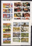 EYNHALLOW (Scotland) 1977 4 Perforated Sheets With Animals, Fruits Etc. - Fantasie Vignetten