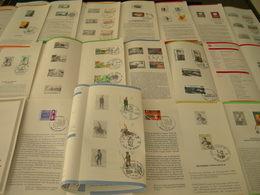BELG.1983 Kompleet Jaar ,zegels Met Eerstedag Stempel Op NL Postfolders ,18 STUKS - Full Years