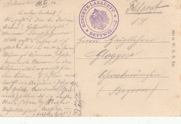 Feldpostkarte Avec Cachet RESERVE LAZARETT * DETTWEILER * Du 11.11.14 Pour Schwabmünchen - Marcophilie (Lettres)