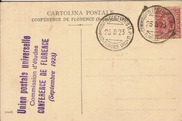 (C).Firenze.Conferenza Del Settembre 1923.Annulli Su Cartolina Del Palazzo Delle Poste (c18) - Firenze (Florence)