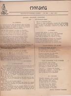 GIORNALE FRANCESE - MARSYAS - TRENTE ET- UNIEME ANNE'E - N° 286 - 1951 - Giornali