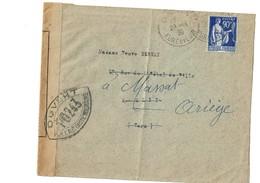 LETTRE   FRANCE   Ouvert  Controle Poste Militaire Censure  1939 - Marcophilie (Lettres)