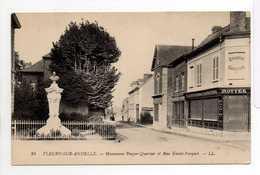 - CPA FLEURY-SUR-ANDELLE (27) - Monument Pouyer-Quertier Et Rue Emile-Parquet (EPICERIE ROTTEE) - - Other Municipalities