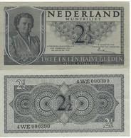 "NETHERLANDS  2.1/2  Gulden   P73     ""Queen Juliana""   Dated   8.8.1949 - [2] 1815-… : Kingdom Of The Netherlands"