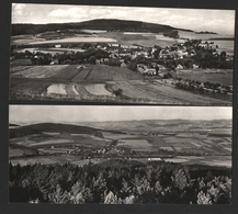Pocinovice Celkovy Pohled - Tchéquie République Tchèque - 2 Cartes Panoramiques 9X21cm (big Size) - República Checa