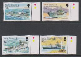 South Georgia 2001 Auxiliary Fleet 4v (+margin)  ** Mnh (39453I) - Zuid-Georgia