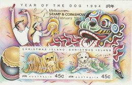 Christmas Island SG 388b 1994 Year Of Dog MELB Stamp Show - Christmas Island
