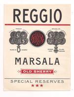 Etiquette  Reggio Marsala - Old Sherry - Palmes De L'académie - Membre Du Jury - Hors Concours - - Altri